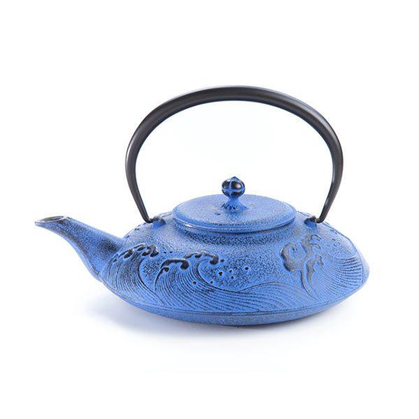 """Tetera Hierro Colado """"Taira Nami"""" Azul Cielo 0,5 litros"""
