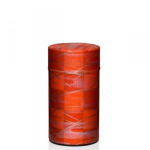 Lata metálica papel pintado rojo 100g
