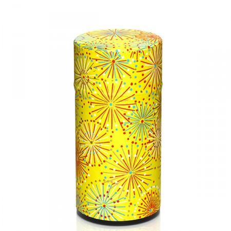 Lata metálica papel pintado amarillo 100g